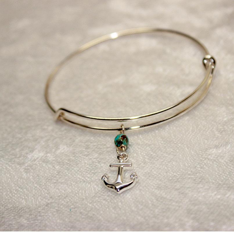 Home Bracelets Sterling Silver Anchor Bracelet